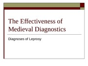 The Effectiveness of Medieval Diagnostics(1) (1)