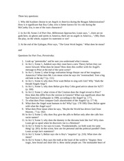 Angels part two study guide