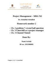 Project Management HW2 Rami Aridah