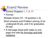 Exam 2 Review_General