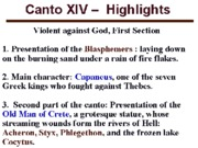 Canto XIV Highlights