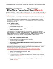 5.14 Graded Assignment - Think like an Admissions Officer