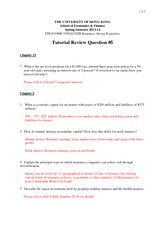 Tutorial 6 Suggested Answers