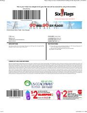 six flags ticket