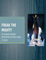 FREAK THE MIGHTY.pptx