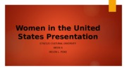 ETH125 Women in the United States Presentation