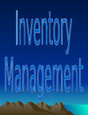 12. Inventory Management ( Independent Inventory )