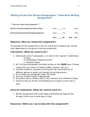 Writing Across the Genres Individual Assignment (1).docx