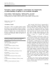 2010_TowardsScience of Logistics_ARTICLE.pdf