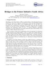 Bridges to the Future Initiative South Africa - Ref33 -MDikotla