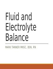 Fluid and Electrolyte Fall 2014 Student