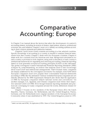 Chapter 3   Comparative Accounting; Europe