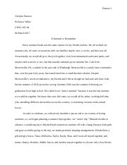 Summer to Remember (Narrative Essay).docx