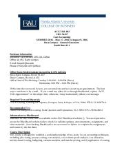 ACG 3341-002 COST ACCOUNTING SUMMER 2016 SYLLABUS BOCA - FINAL (MAY 2, 2016)-4.doc