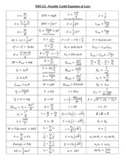 PHY122 Fall 2014 Final Equations Page 1 NEW FINAL