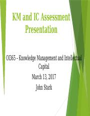 km and ic assessment presentation