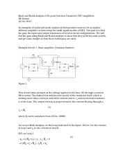 Complement to Lecture 17 Mesh and Nodal Analysis of BJT Amplifiers .docx