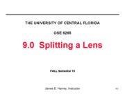 9.0 Splitting a Lens
