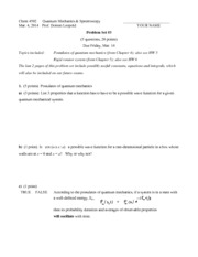 s14 Problem Set 3  Postulates  Rigid Rotator