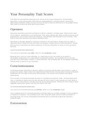 Your Personality Trait Scores.docx