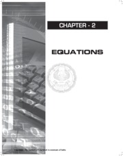 Ch 2 - Equations