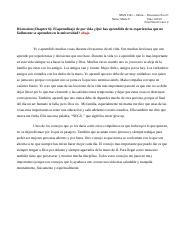 Discussion Post (Chapter 6 ) El aprendizaje de por vida - Qué has aprendido de tus experencias  (p 2