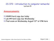 Lecture 15 on Network Security