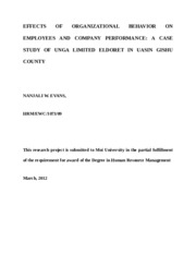 EFFECTS OF ORGANIZATIONAL BEHAVIOR ON EMPLOYEES AND COMPANY PERFORMANCE.docx