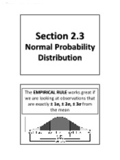 2.3 - Normal Probability Distribution (No Solutions)