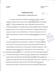 religion - final essay womens rights