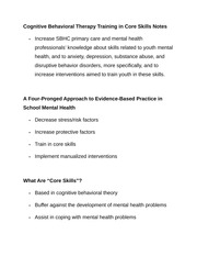 Cognitive Behavioral Therapy Training in Core Skills Notes