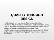 QUALITYTHROUGHDESIGN