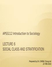 APSS112_L6_Class and social stratification