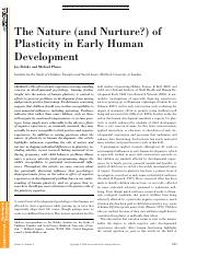 The Nature and Nurture of Plasticity in Human Development