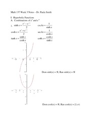 Math 137 Fall 2013 Week 3 Notes