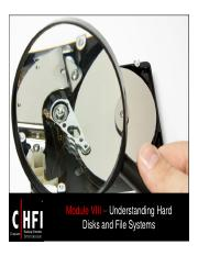 CHFI v4 Module 08 Understanding Hard Disks and File Systems