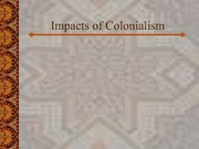 Lecture Notes - Impacts of Colonialism
