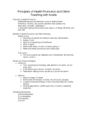 Principles of Health Promotion and Client Teaching with Adults
