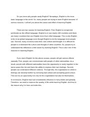 Do you know why people study English.docx