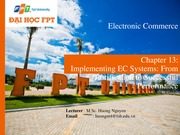 Chapter 13- Implementing EC Systems- From Justification to Successful Performance