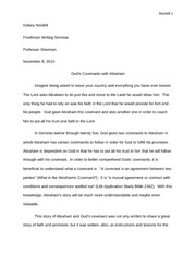 Covenant and Abraham essay