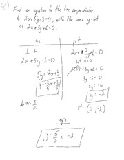 Class Note On Chapter Six Line Perpendicular For MPM 1D0