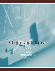 Setting the Stage for Success  Assignment 2.pptx