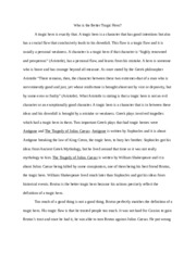 Tragic Hero Essay  Alexis Prisinzanopdf  Alexis Prisinzano   Pages The Tragic Hero Essay High School Argumentative Essay Topics also Purdue Online  My Hobby English Essay