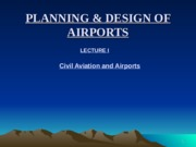 PLANNING  DESIGN OF AIRPORTS lectures 1 to 15