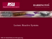 Lecture dynamic systems
