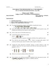 (www.entrance-exam.net)-Gujarat Technological University ME 1st Sem- Control Engineering Sample Pape