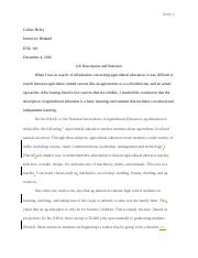 BWP Job Research essay