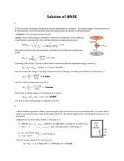 Solutions of HW06
