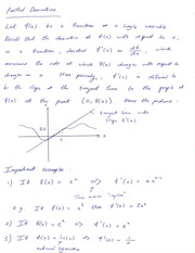 Math 16B Analytical Geometry and Calculus Partial Derivatives Notes